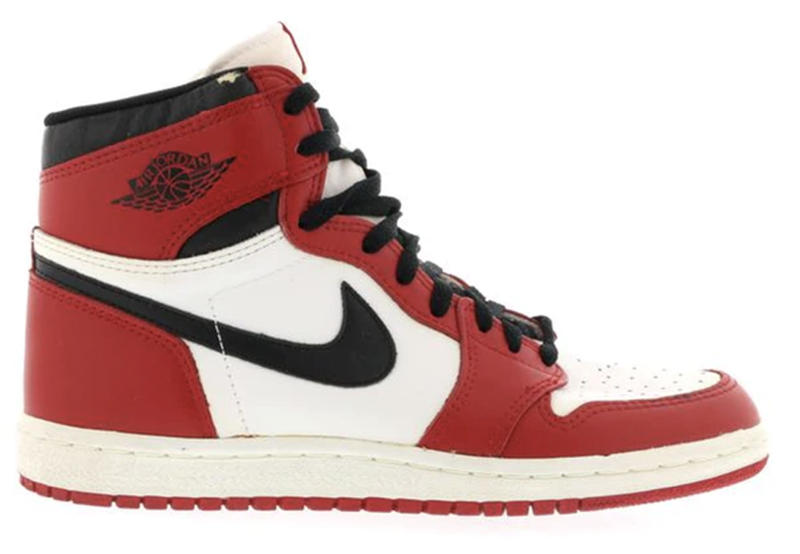 1985 Air Jordan 1 White / Black - Red