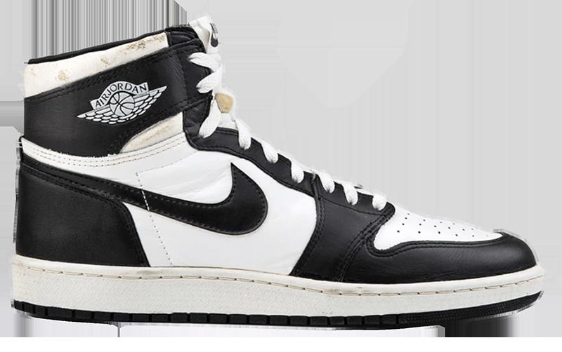 1985 Air Jordan 1 White / Black