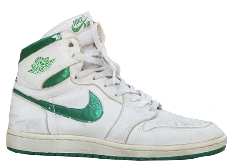 1985 Air Jordan White / Metallic Green