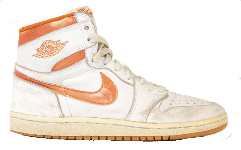 1985 Air Jordan White / Metallic Orange