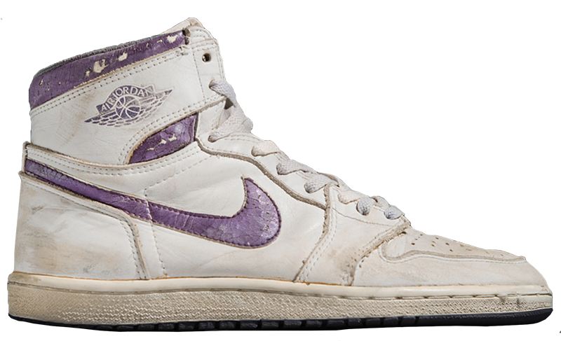 1985 Air Jordan White / Metallic Purple