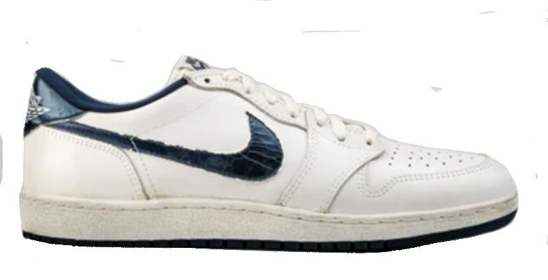 1986 Air Jordan Low White / Metallic Blue