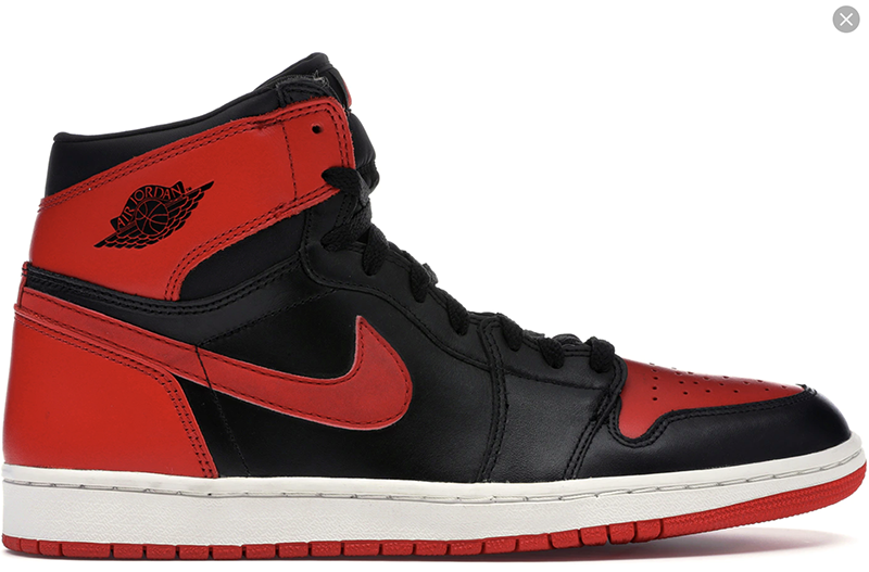 2001 Air Jordan 1 Retro Black / Varsity Red - White (Bred)