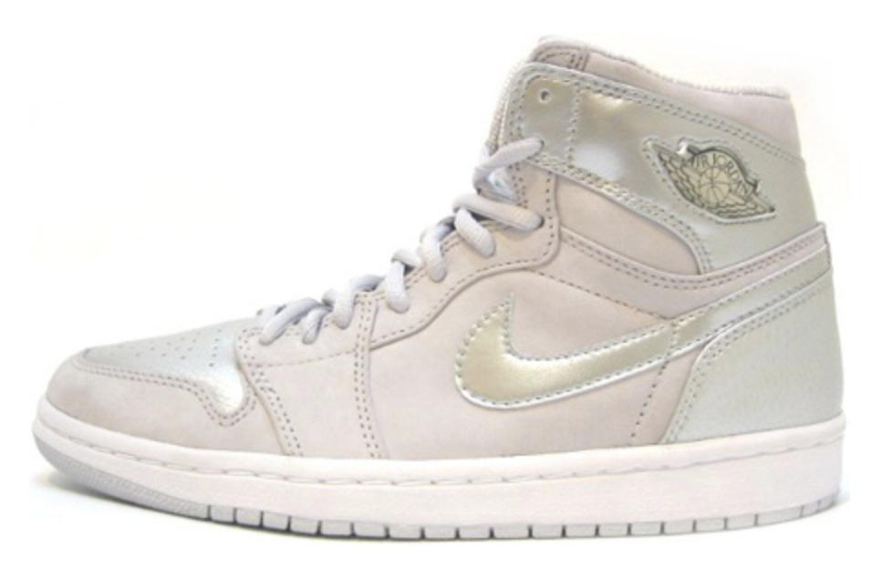 2001 Air Jordan 1 Retro Japan Neutral Grey / Metallic Silver