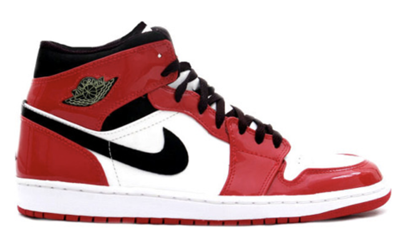 2003 Air Jordan 1 Retro Patent Leather White  Black – Varsity Red