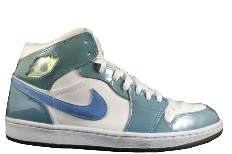 2003 Air Jordan 1 Retro Patent Leather White / Carolina Blue