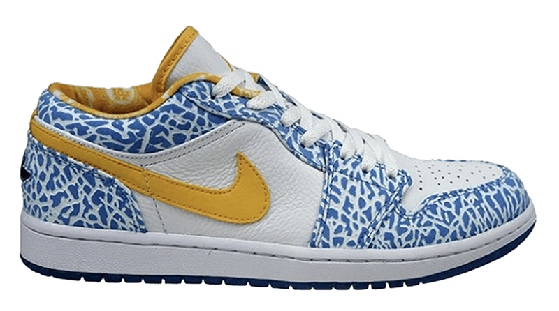 2007 Air Jordan 1 West Side Retro Low White : Chlorine Blue – Sonic Yellow