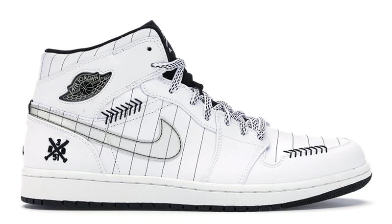 2008 Air Jordan 1 Retro Barons Home Opening Day White / Black – Silver
