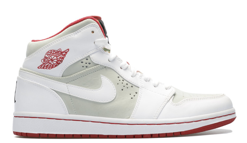 2009 Air Jordan 1 Retro Hare – Easter Bunny Light Silver / White – True Red