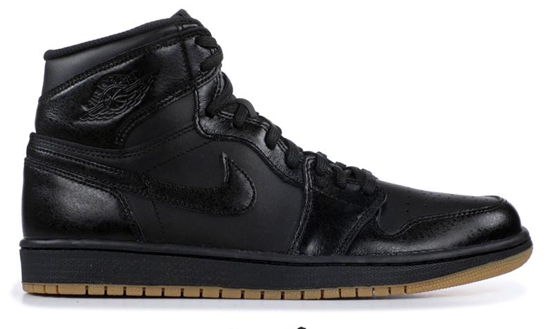 2014 Air Jordan 1 Black / Black – Gum Light Brown
