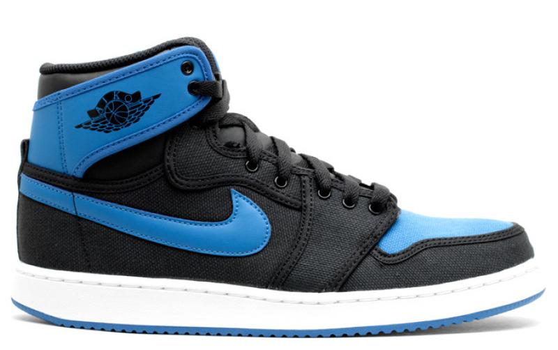 2014 Air Jordan 1 Black / Black - Sport Blue