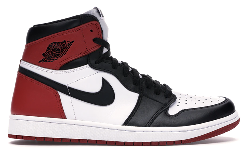 "2016 Air Jordan 1 Retro ""Black Toe"" White / Black - Varsity Red"