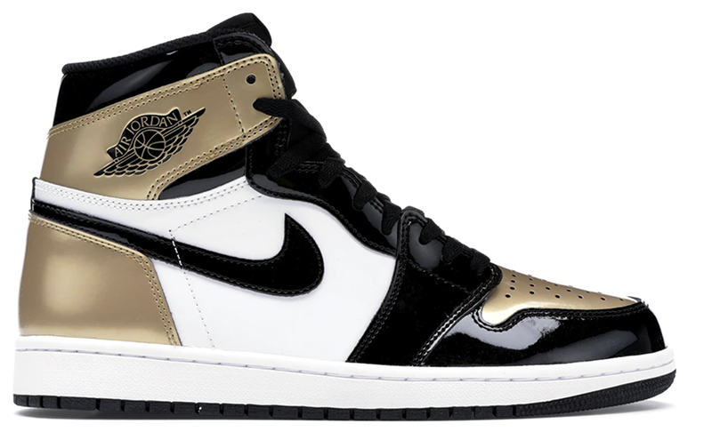 2017 Air Jordan 1 Retro Black / Black - Metallic Gold