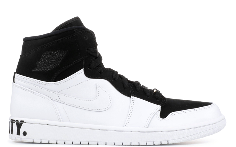 "2018 Air Jordan 1 Retro High ""Equality"" Black / White - Metallic Gold"