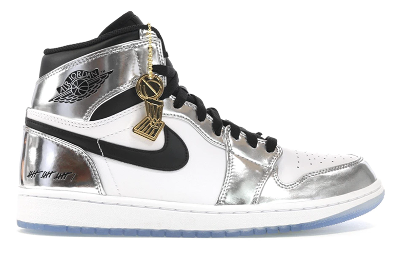"2018 Air Jordan 1 Retro High ""Think 16 (Pass the Torch)"" Chrome / White - Black"
