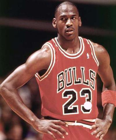 Michael Jordan con la maglia 23 dei Chicago Bulls