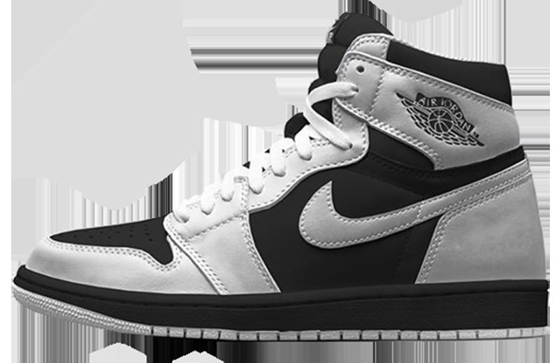 2016 Air Jordan 1 Black - White - Black