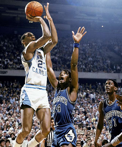 Michael Jordan con la maglia del North Carolina